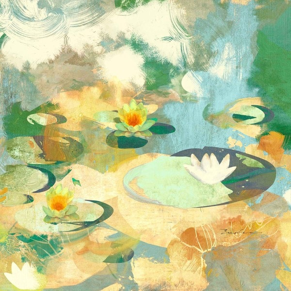"Marmont Hill - ""Find a Water Lily Bloom"" Print on Canvas"