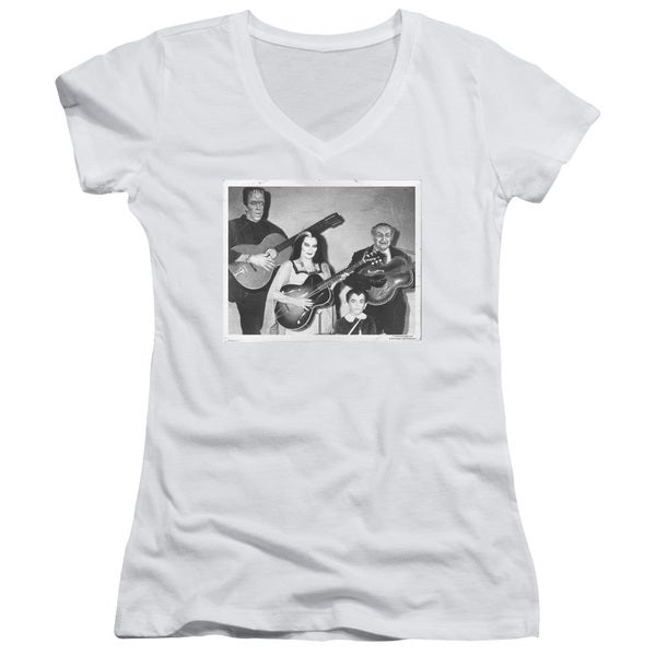Munsters/Play It Again Junior V-Neck in White