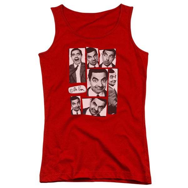 Mr Bean/Boxed Beans Juniors Tank Top in Red