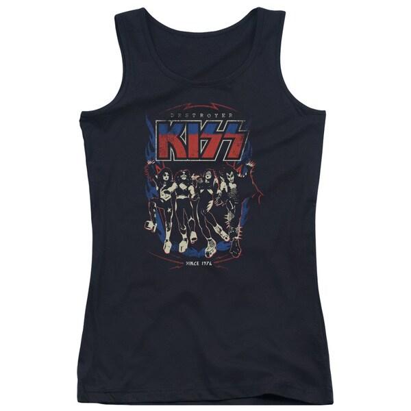 Kiss/Destroyer Juniors Tank Top in Black