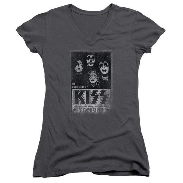 Kiss/Live Junior V-Neck in Charcoal