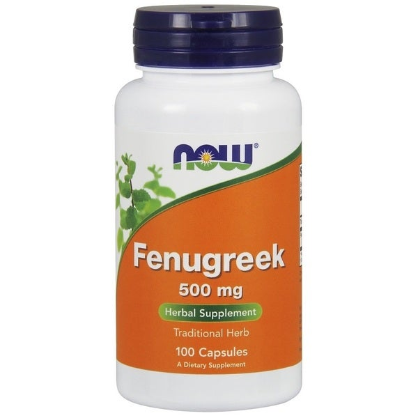 Now Foods 500-milligram Fenugreek (100 Capsules)