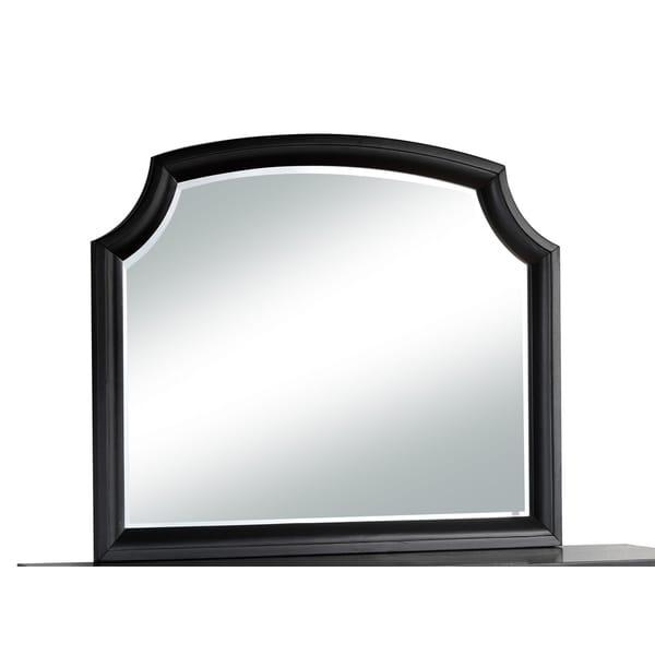 Global Olivia Black MDF Mirror