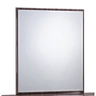 Global Sienna Brown Wood Grain Framed Mirror