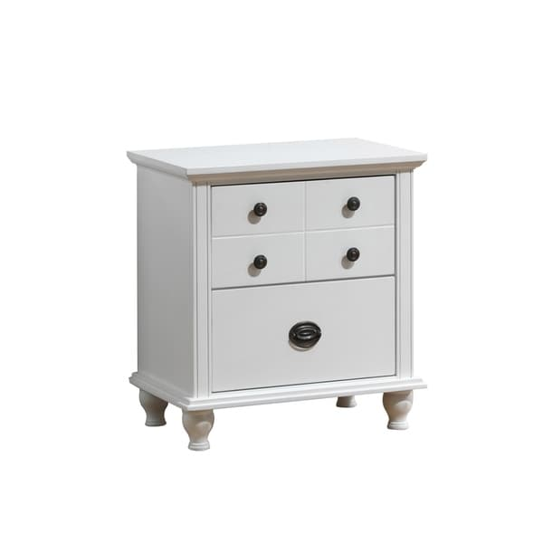 Global White MDF Nightstand