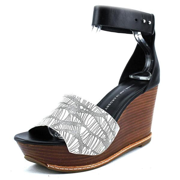 Derek Lam Women's Murray Black/White Leather Sandals