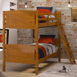 Woodcrest Pine Ridge Scored Honey Finish Bunk Bed