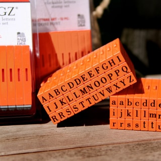Mason Row Pegz Orange Plastic/Rubber Stamps