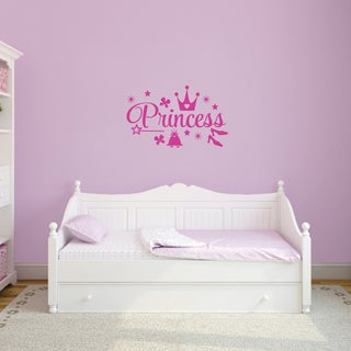 Princess Vinyl Wall Decals Set