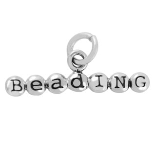 Sterling Silver 3D Beading Charm Pendant (6 x 21 mm)