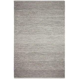 Handmade Recycled Cotton Aurora Grey Rug (India)