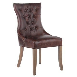 Mustang Tufted Leather Arm Chair