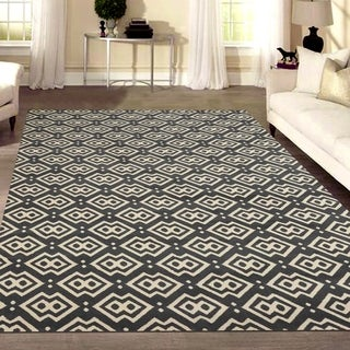 Admire Home Living Bronte Disc Dark Grey Area Rug (7'10 x 10'6)