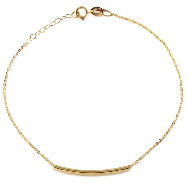 14k Italian Yellow Gold Sliding Bar Bracelet