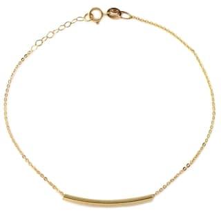 14k Italian Yellow Gold Sliding Bar Bracelet