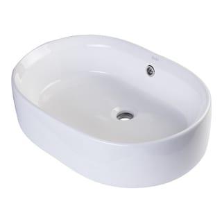 Eago BA132 Oval Ceramic Vessel Sink