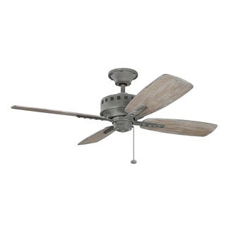 Kichler Lighting Eads Collection 52-inch Weathered Zinc Ceiling Fan