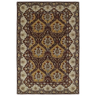 Hand-Tufted Perry Panel Wine Wool Rug (9'0 x 12'0)