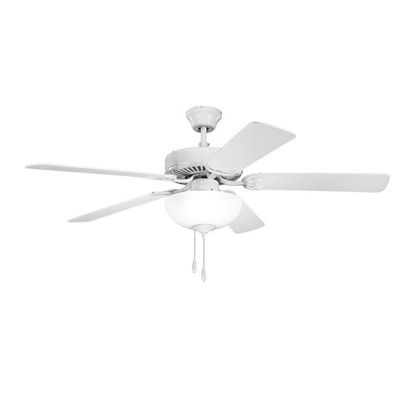 Kichler Lighting Traditional 52-inch White Ceiling Fan w/Light