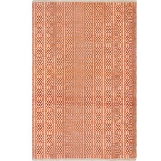 Fab Habitat Recycled Cotton Belfast Apricot Rug (2' x 3')