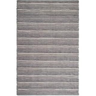 Fab Habitat Recycled Cotton Formosa Grey Rug (2' x 3')