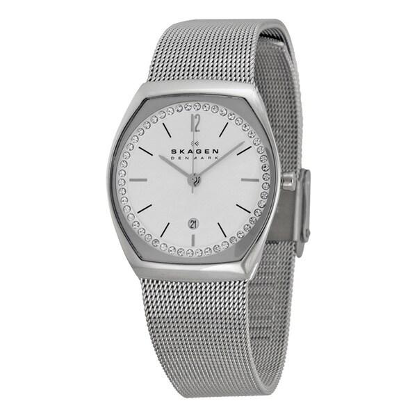 Skagen Women's Asta Silver Dial Stainless Steel Mesh Bracelet Watch