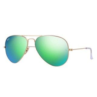 Ray-Ban RB3025 112/19 Aviator Flash Lenses Gold Frame Green Flash 55mm Lens Sunglasses