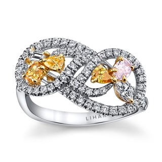 Lihara and Co. 18K White and Yellow Gold 1.03ct TDW Diamond Ring