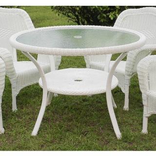 International Caravan Maui Resin Wicker/ Steel Outdoor Dining Table