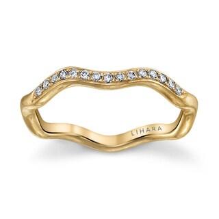 Lihara and Co. 18K Yellow Gold 0.09ct TDW Diamond Ring
