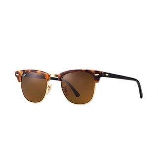 Ray-Ban RB3016 1160 Clubmaster Fleck Tortoise/Black Frame Brown Classic 49mm Lens Sunglasses