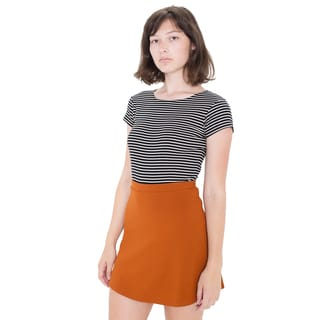 American Apparel Women's Hyperion Orange Spandex/Rayon/Nylon Skirt