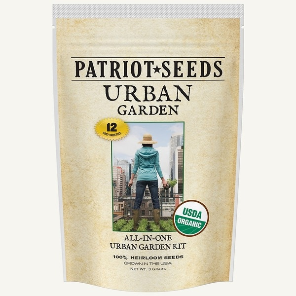 Urban Garden 12 Easy-to-grow Varieties 100-percent Heirloom Non-GMO Convenient Pouch-pack Seed Kit