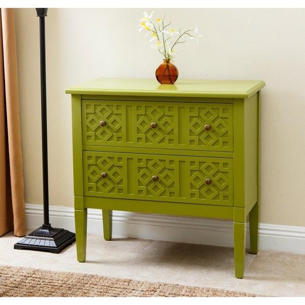 ABBYSON LIVING Harvard Lime Green Side Cabinet