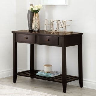 Abbyson Living Contemporary Espresso Black Wood Sofa Table