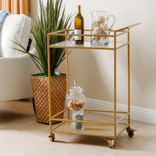 ABBYSON LIVING Marriot Gold Kitchen Bar Cart