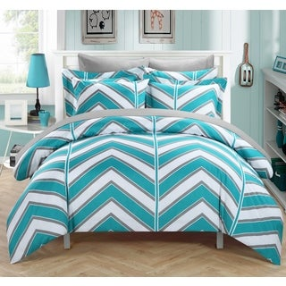 Chic Home Dallas Aqua 9-Piece Bed in a Bag with Sheet Set