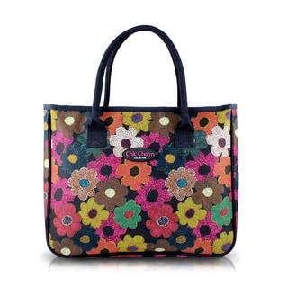 Jacki Design Multicolored Floral Nylon Tote Bag