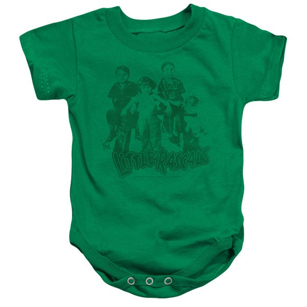 Little Rascals/The Gang Infant Snapsuit in Kelly Green