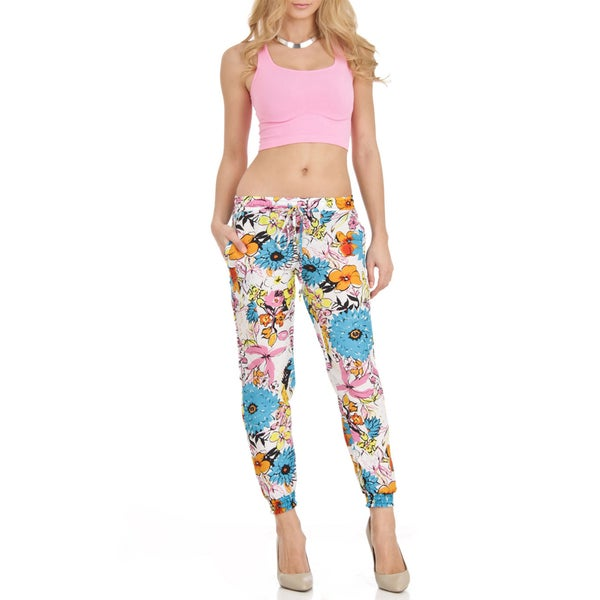 Trendy Loose Fit Floral Printed Soft Pants