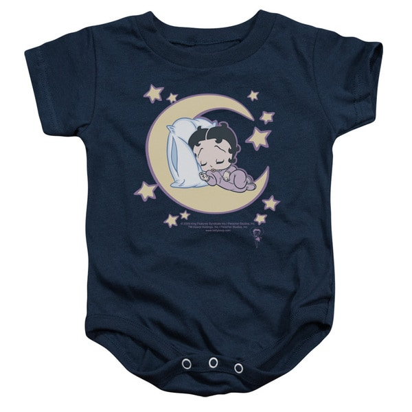 Boop/Sleepy Time Infant Snapsuit in Navy