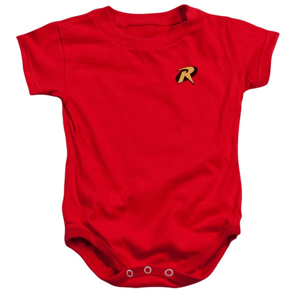 Batman/Robin Logo Infant Snapsuit in Red