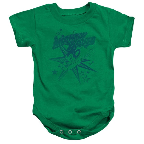 Mighty Mouse/Mighty Mouse Infant Snapsuit in Kelly Green