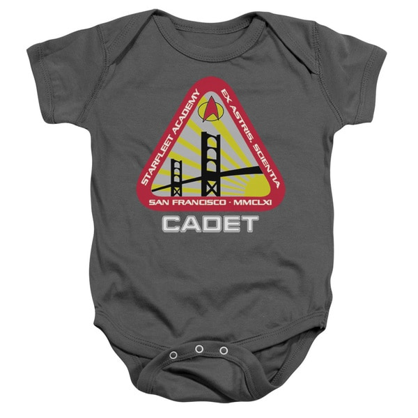 Star Trek/Starfleet Cadet Infant Snapsuit in Charcoal