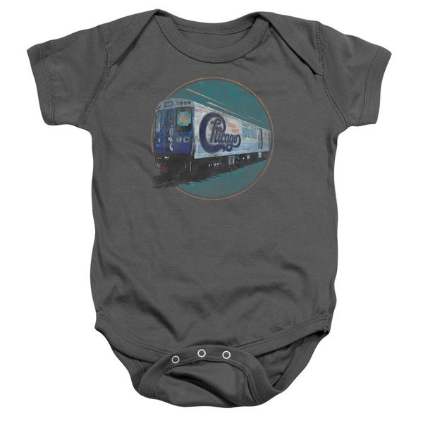 Chicago/The Rail Infant Snapsuit in Charcoal