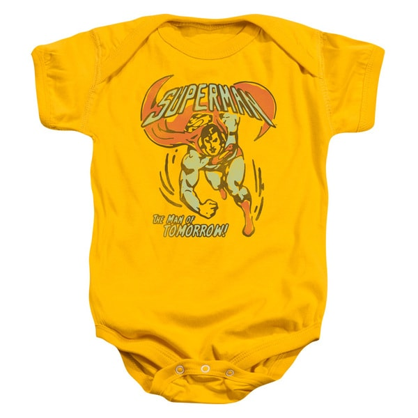DC/Tomorrow Man Infant Snapsuit in Gold