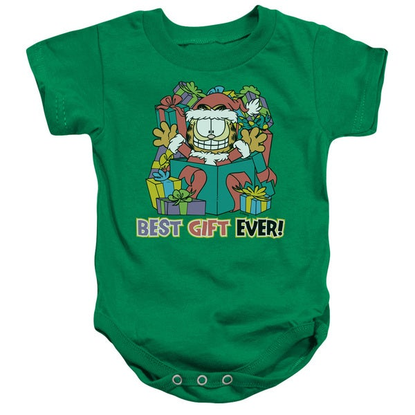 Garfield/Best Gift Ever Infant Snapsuit in Kelly Green