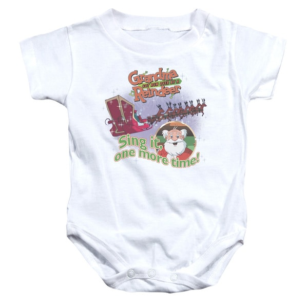 Granma Got Run Over By A Reindeer/All About The Songs Infant Snapsuit in White