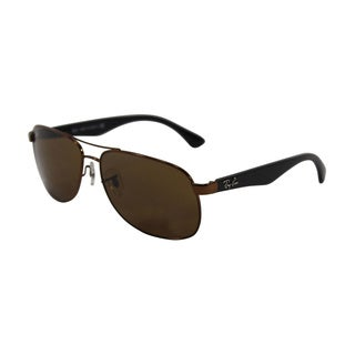 Ray Ban RB3502 Women's Aviator Crystal Brown Lens Sunglasses
