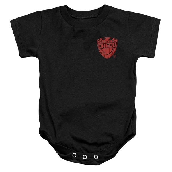 Judge Dredd/Badge Infant Snapsuit in Black